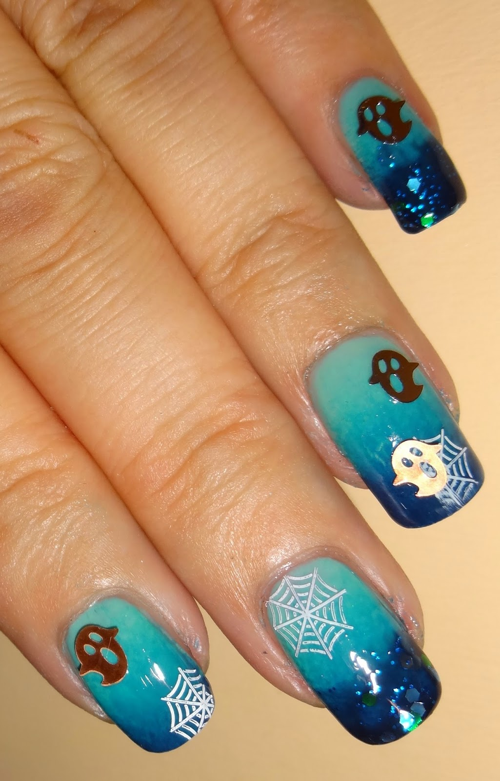 Wendy S Delights Metallic Ghost Decals From Charlies Nail Art