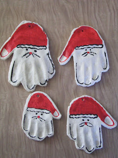 Salt dough santa decoration keepsakes