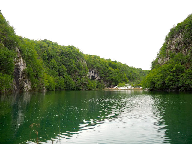 Crossing the river at Plitvice Lakes National Park, Croatia