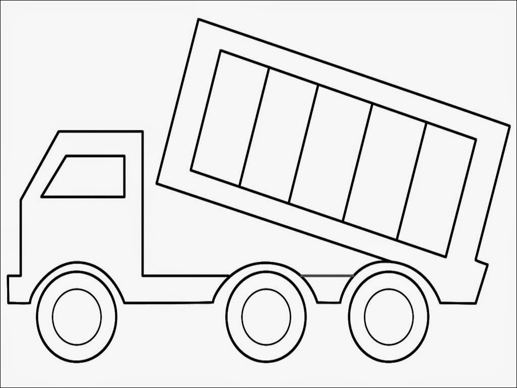 Dump Truck Coloring Pages Printable