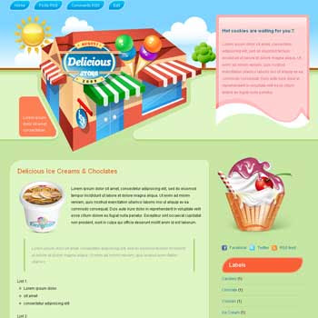 Delicious Store 2 Column Blogger Template. image slider blogger template. 3 column footer template blog. recipe and cooking blogger template