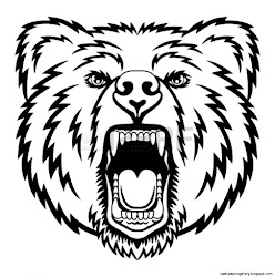 bear head face drawing clipart standing vector illustration panda mascot graphic ideal clip outline tattoo shirt shutterstock grizzly drawings vectors