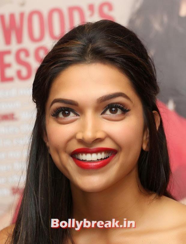 Deepika Padukone smiling, Deepika Padukone Launches Star Magazine Cover