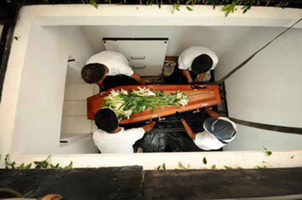 Marcos' body allegedly buried inside an underground room