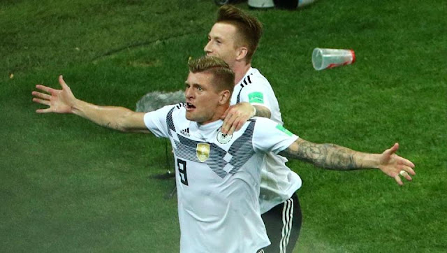 Toni Kroos scored a last-gasp winner as Germany beat Sweden 2-1