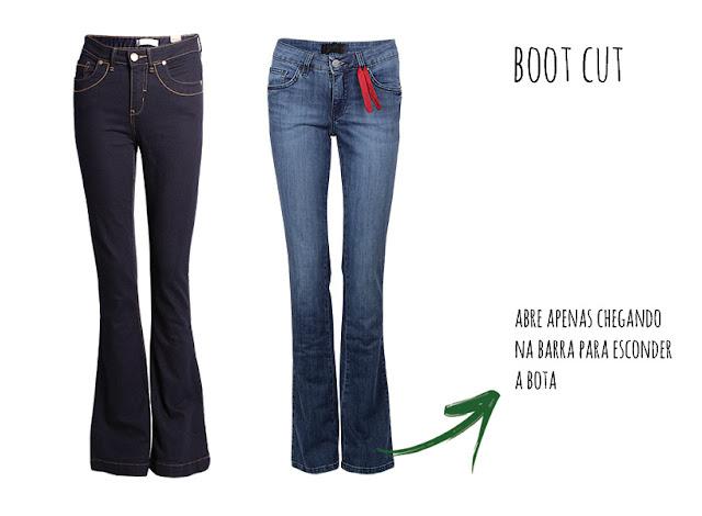 o que é calça jeans modelo boot cut
