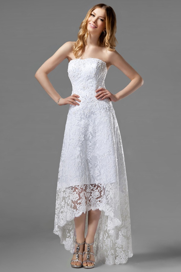 High Low Gown Is Hot Up Front And Elegant In The Back No Matter You Are Tall Or Pee It Will Suits Well If A Hi Lo