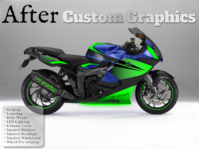 Custom Car & Motorcycle Vinyl Decals Graphic Design Seattle Copywriting Photography © 2017