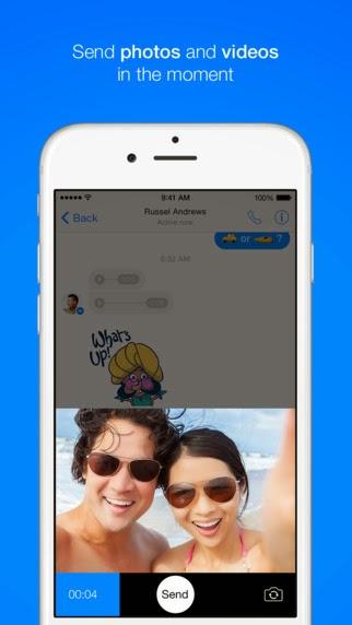 Messenger, raggiungi all'istante le persone che ti stanno a cuore si aggiorna alla vers 59.0