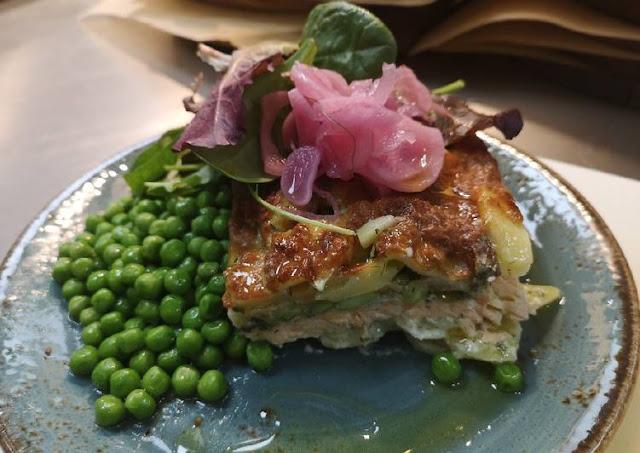 Swedish Salmon Gratin in Oven