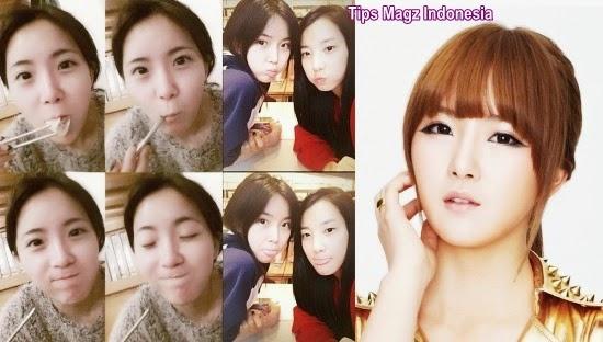 artis korea Hyunyoung - Rainbow tanpa memakai makeup