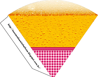 Conos= Cucuruchos para Imprimir Gratis de Fiesta de la Cerveza para Chicas.