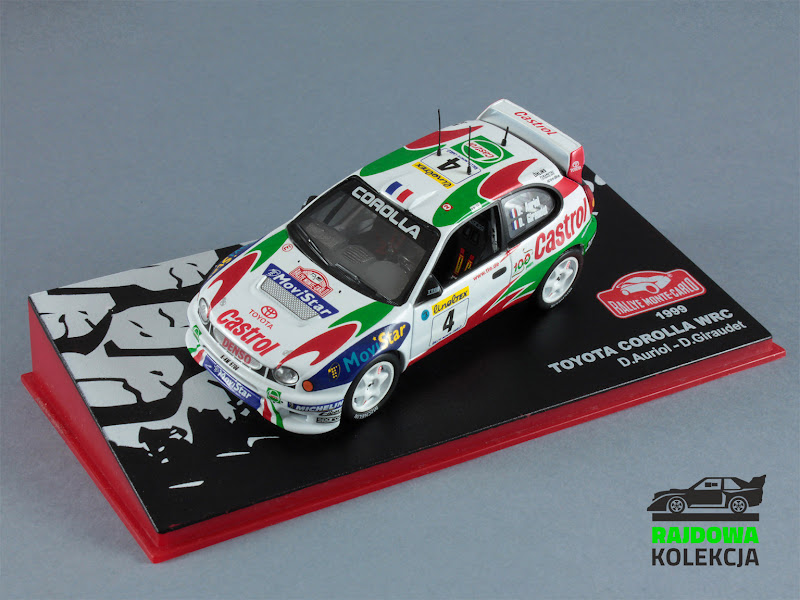 IXO Altaya Toyota Corolla WRC Rallye Monte Carlo 1999