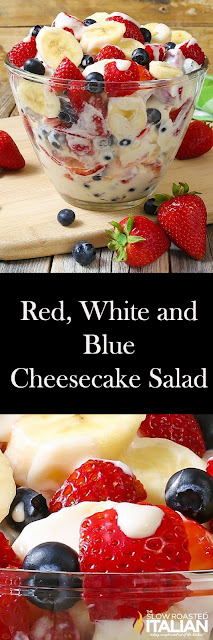 Red, White and Blue Cheesecake Salad Recipes