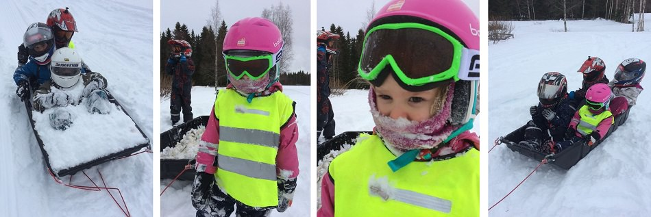 lapset vauhdin hurma talviurheilu