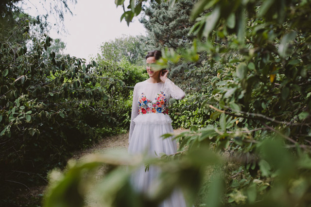 vestido flores novia boda blog wedding dress floral