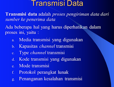 Pengertian Transmisi Data