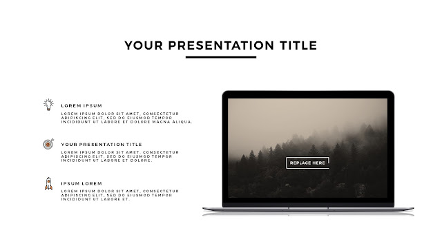 MacBook Silver Mockup Free Powerpoint Template Slide 1