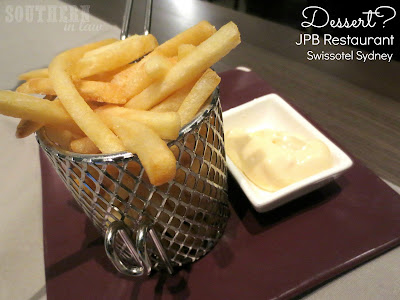 JPB Restaurant Review Swissotel Sydney - Side of Fries