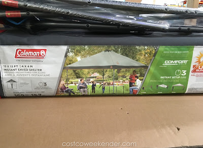 Coleman Instant Eaved Shelter: great for picnics, camping, tailgating, or just for the backyard
