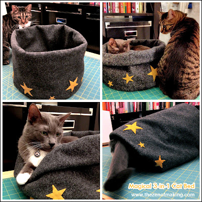 Dogs aren't the only ones who get cute beds - this kitty bed is a 3-1 play place!