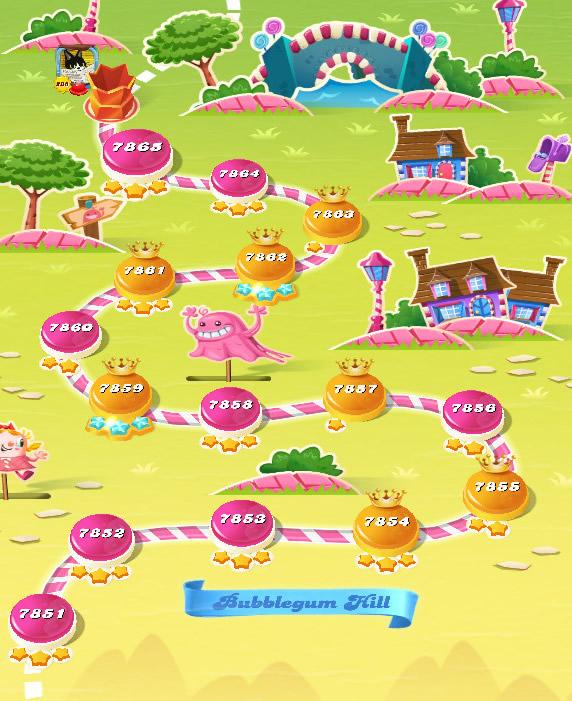 Candy Crush Saga level 7851-7865