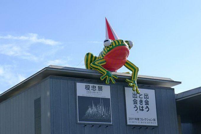 Escultura gigante de rana
