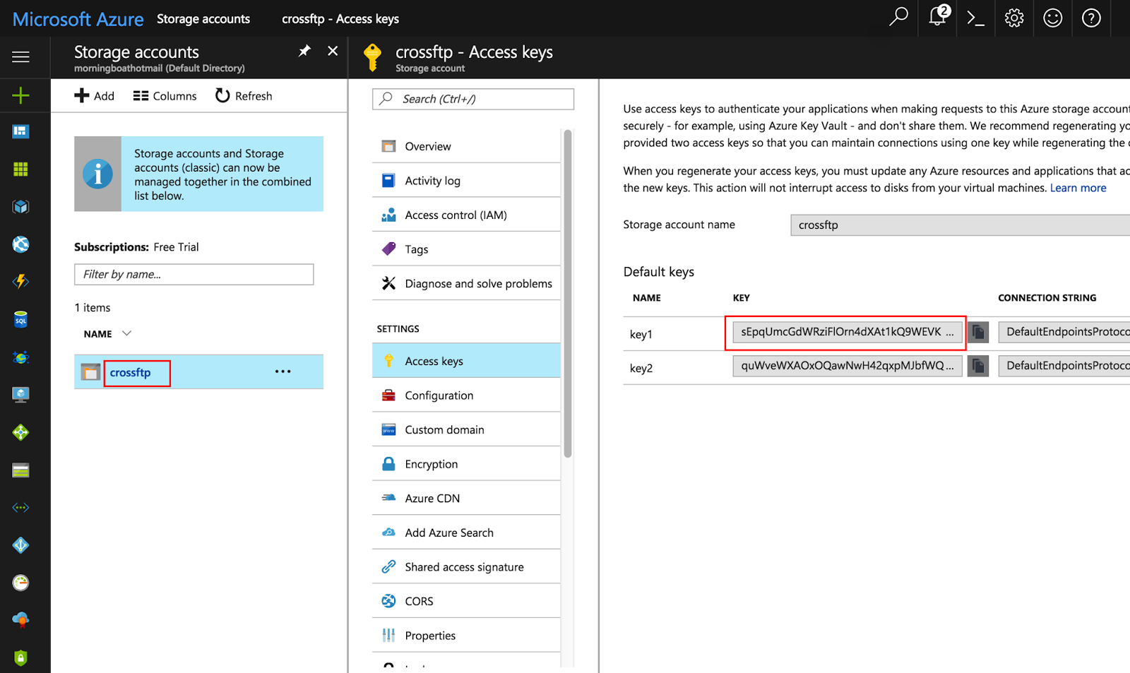 CrossFTP, FTP and Amazon S3 Client: Microsoft Azure Blob