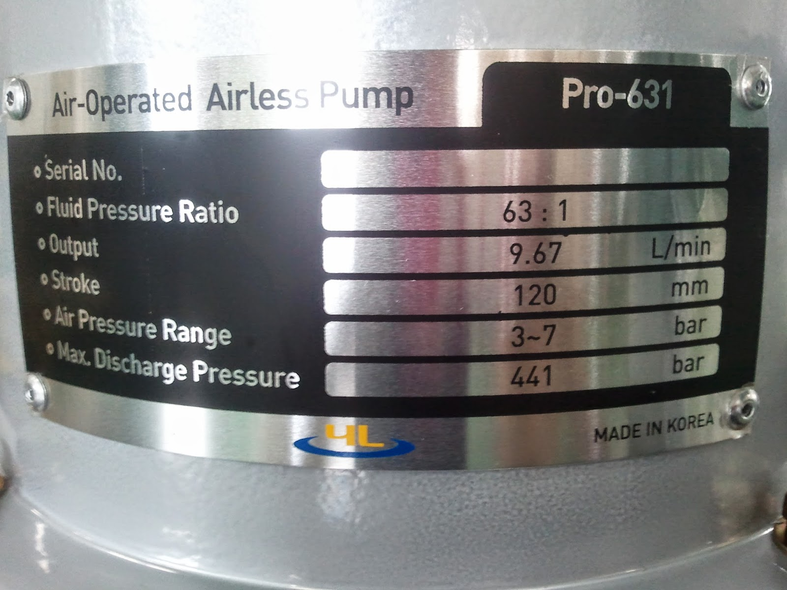 Airless Spraygun Manufacturers Mail: KOREAN MANUFACTURER: Yelim Painting