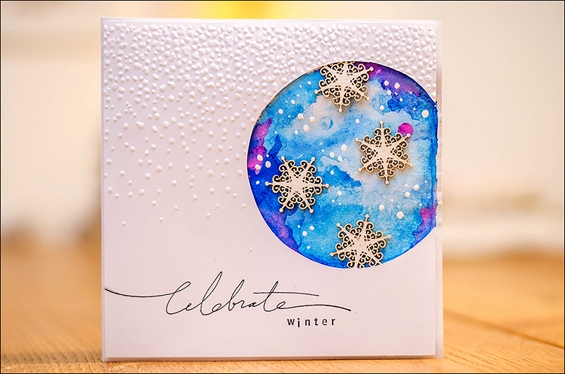 Stephanie Berger - Cardmaking - Wycinanka - Wintercard