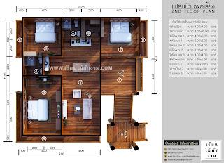 แปลนบ้านไม้สองชั้น ชั้น 2