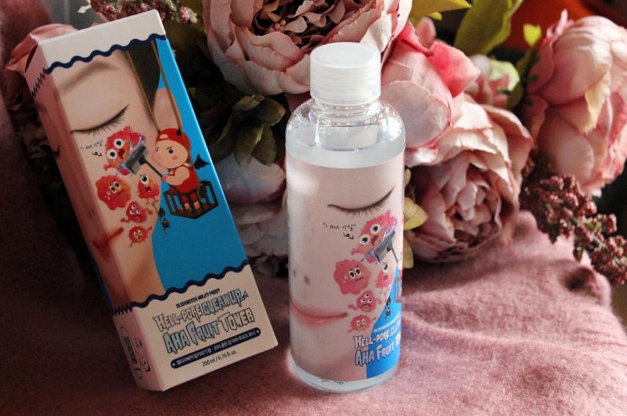 Пилинг-тоник с фруктовыми кислотами Elizavecca Face Care Hell-Pore Clean Up Aha Fruit Toner / обзор, отзывы