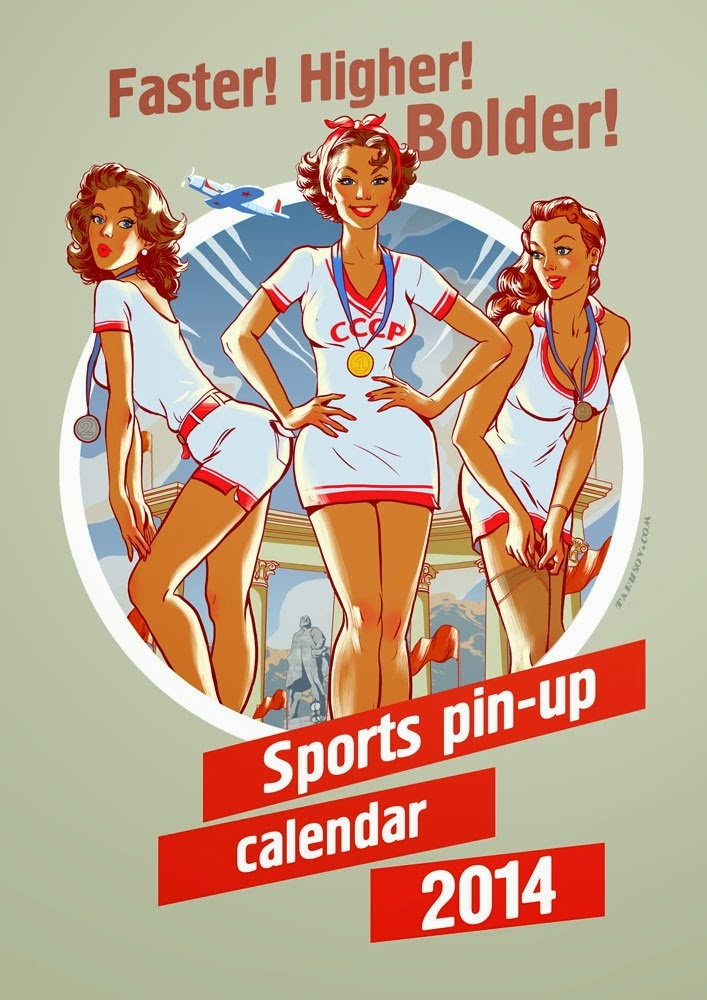 ©Andrew Tarusov - Sports Pin-up calendar 2014. Ilustración | Illustration