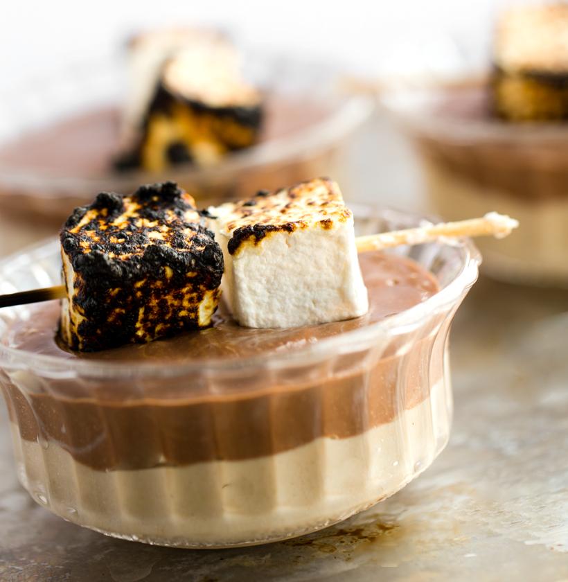 Baked Alaska-Inspired Tofu Pudding