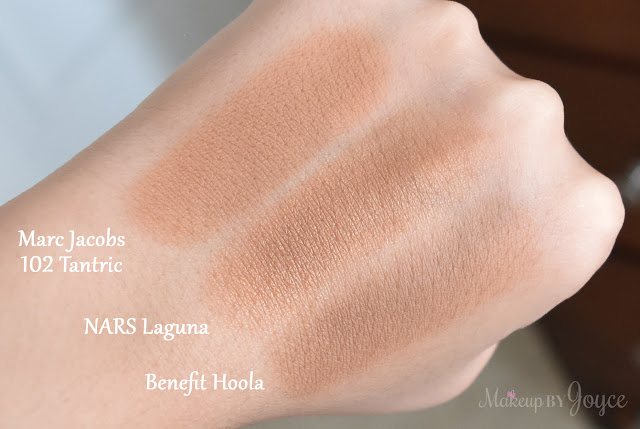 Nars Laguna Benefit Hoola Marc Jacobs Perfect Tan Bronzer Swatches