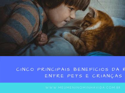 Cinco principais benefícios da relação entre pets e crianças