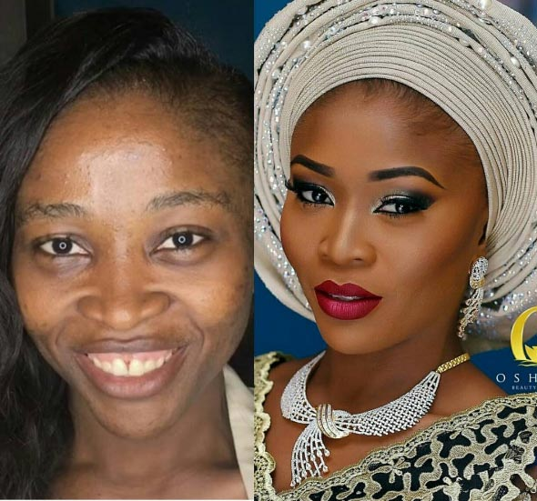 Check out this amazing make-up transformation by Oshewa Beauty