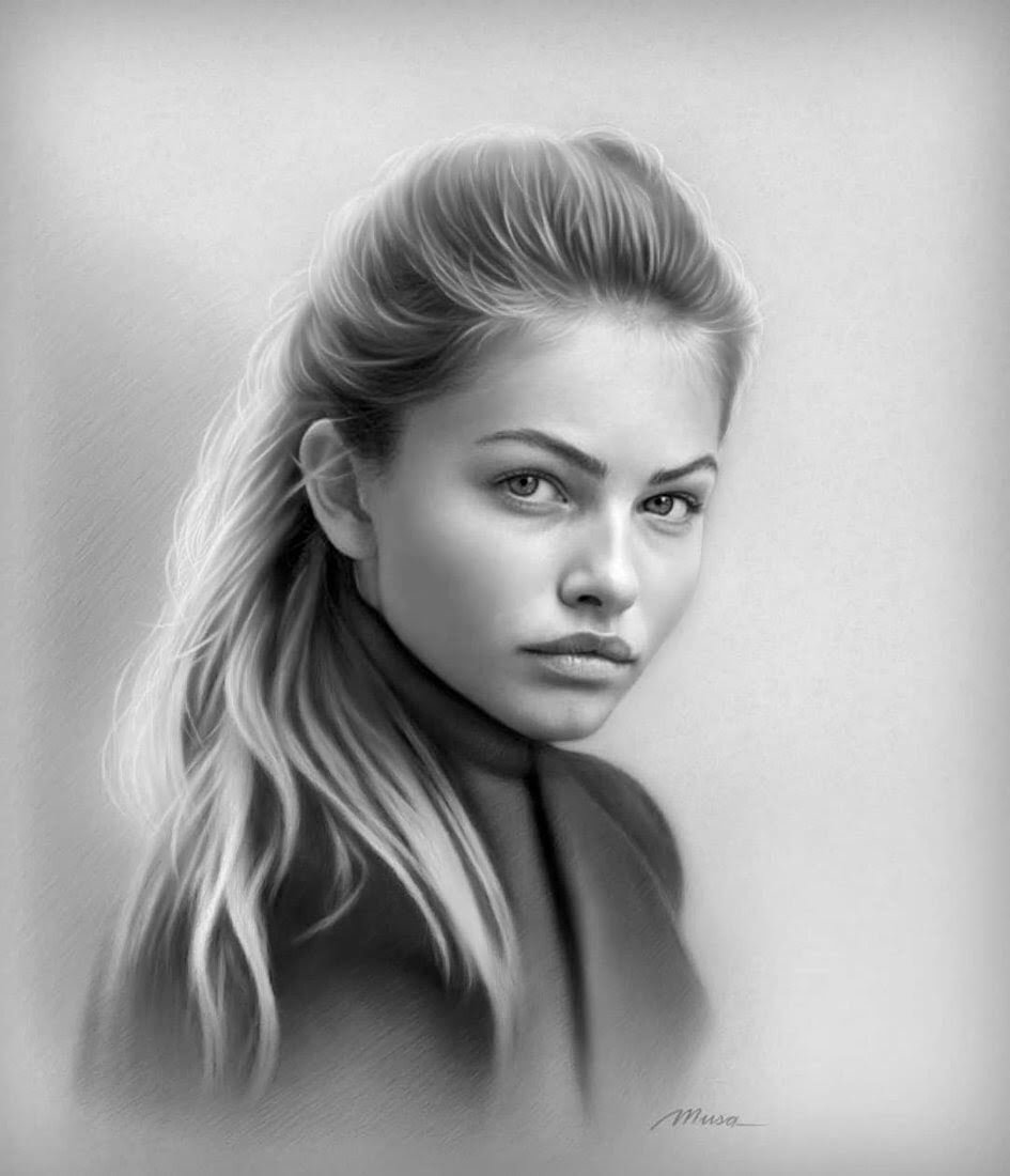 11-Musa-Çelik-11-B&W-and-2-Color-Pencil-Drawings-www-designstack-co