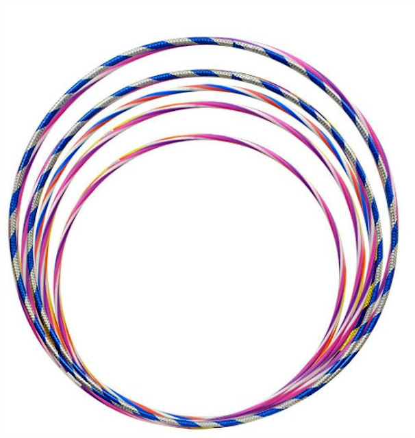 Hula Hoops from The Dollar Tree used for Christmas Wreath.