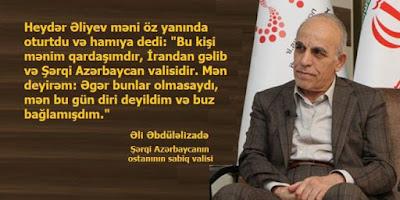Şərqi Azərbaycanın sabiq valisi Qarabağ müharibəsi zamanı İranın Azərbaycana yardımlarından danışdı