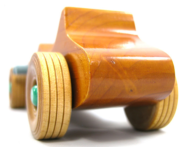 Wooden Toy Car - Hot Rod Freaky Ford - 1927 Ford - Bucket-T - T-Bucket
