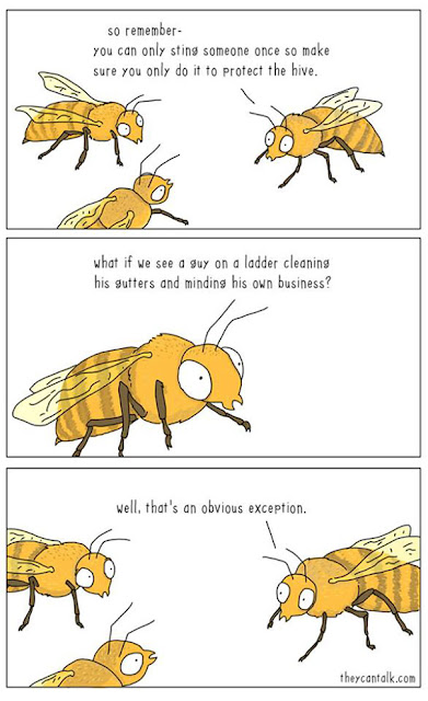 very funny comic about wasps and stinging people
