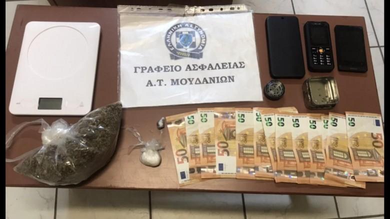 Ποσότητες κάνναβης και κοκαΐνης ξετρύπωσε αστυνομικός σκύλος στην Χαλκιδική