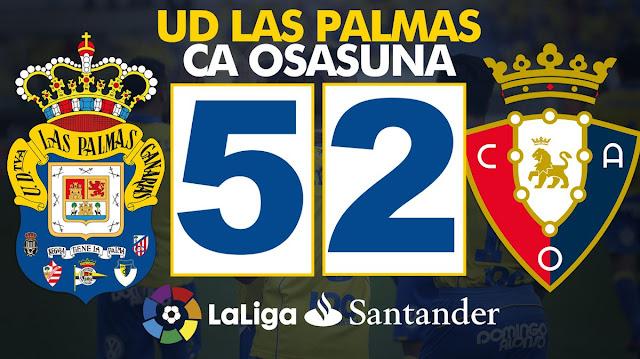Marcador del partido UD Las Palmas 5 - CA Osasuna 2