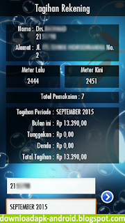 Aplikasi Android Cek Tagihan PDAM