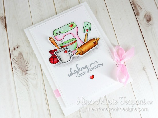 Baking Mixer Card by Nina-Marie Trapani | Made from Scratch Stamp Set by Newton's Nook Designs #newtonsnook