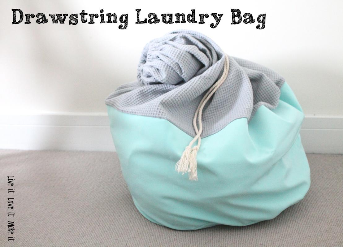 Make it: Drawstring Laundry Bag