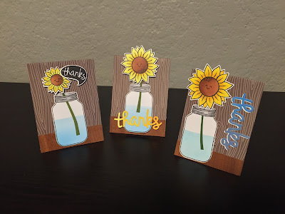Spring is on my mind: Sunday cardmaking.