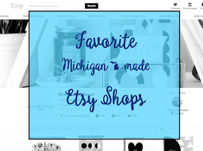 Favorite Five Michigan Etsy Shops by Lina and Vi - linaandvi.com