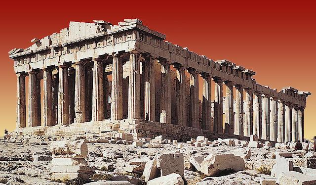 Gambar ilustrasi  runtuhnya Yunani Kuno